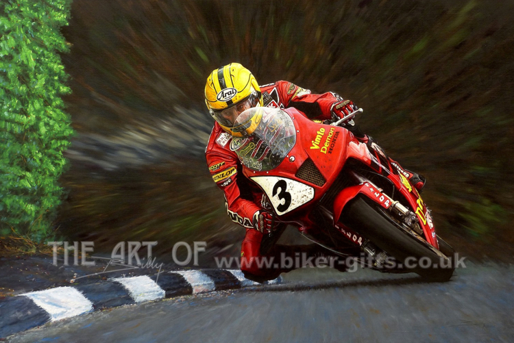 Joey Dunlop by artist Billy